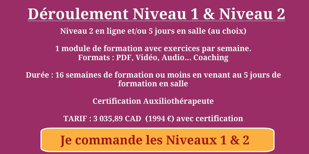 Niveaux 1 et 2 auxiliothrapie CANADA