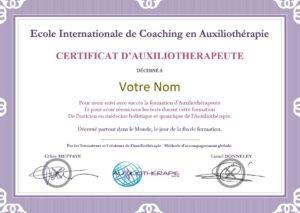 Votre certification d'auxiliothérapeute